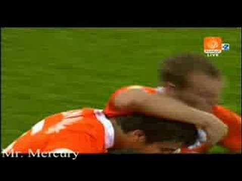 Gol de Sneijder a Francia en la Eurocopa 2008
