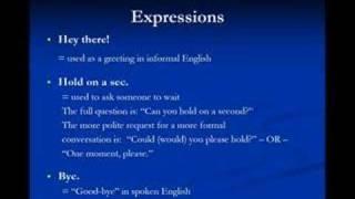 American Slang Lesson 2