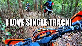 4. Dirt bike Q&A!  KTM 300XCW 2 Stroke Single Track Ride!