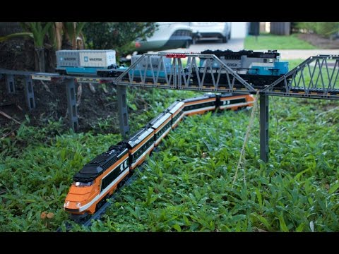 Awesome Lego Garden Railway and through the House