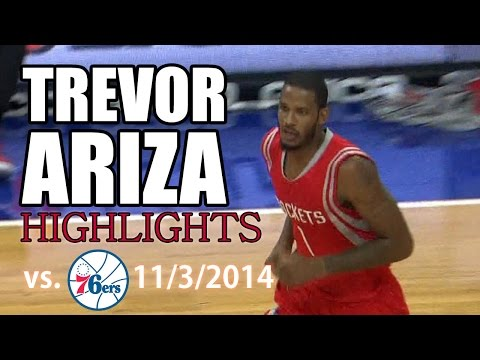 Trevor Ariza Highlights: 24 Points vs. Sixers 11/3/2014