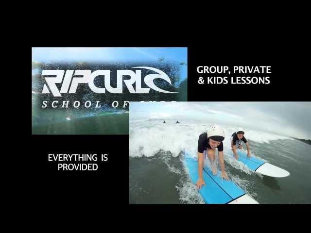 Rip Curl School of Surf advertising