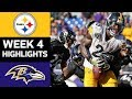 Steelers vs Ravens | NFL Week 4 Game Highlights
