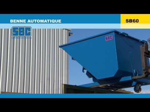 Video Youtube Benne à retour automatique - Capacité 500 à 1860 litres - Charge inférieure à 2000 kg