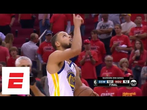 Best moments from Warriors defeating Rockets in Game 7 of 2018 Western Conference finals | ESPN (видео)
