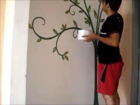 Pintura decorada na entrada