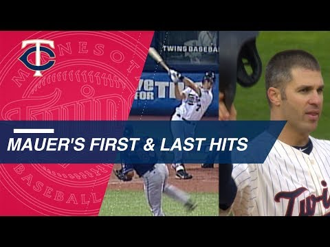 Video: Joe Mauer's first and last Major League hits