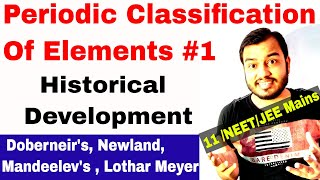 Class 11 chap 3 | Periodic Table 01 | Historical Development | Periodic Classification Of Elements |