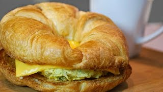 Give your day a Kickstart with this Breakfast Croissant sandwich.. ready in Under 2 mins!!! Serves - 1Ingredients1 Egg - Add an additional 45sec of microwave time for every additional egg1 Medium size Croissant - Preferably freshSalt and pepper to tasteFinely chopped onion and bell pepper (Optional) - Adds a ton of flavor1 Slice of CheeseEnjoy with a hot cup of coffee!!!Enjoy~AMusic: Youtube LibraryFTC: This video is not sponsored