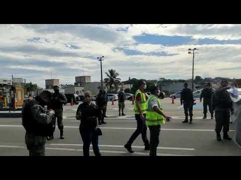 Saserj presente em manifestação pela defesa da Saúde Pública; polícia deteve dois manifestantes