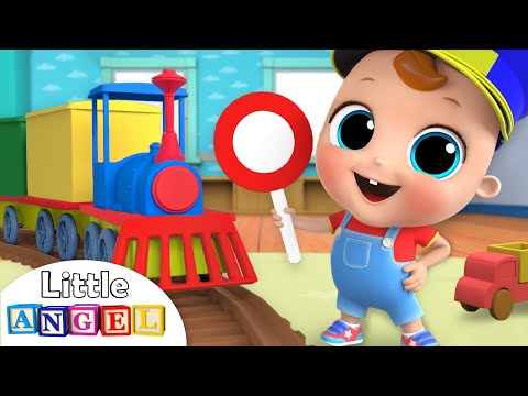 Choo Choo Train | Wheels on the Train Song | Nursery Rhymes by Little Angel - Thời lượng: 3 phút, 17 giây.
