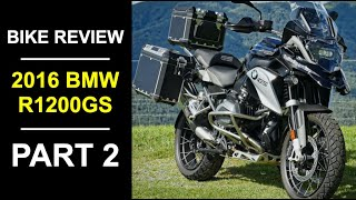 9. 2016 BMW R 1200 GS Review Part 2 - Handling on the Road