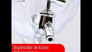 Dispensador de Licores - Globo Terráqueo