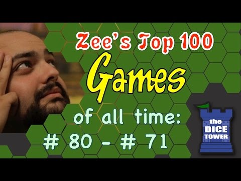 Top - Part three of Zee Garcia's top 100 board games of all time, with Tom and Sam. Buy great games at http://www.coolstuffinc.com Find more reviews and videos at http://www.dicetower.com.
