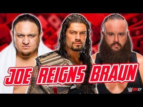 Roman reigns vs Braun strauman vs Samoa Joe (Triple threat match ) - Monday Night Raw