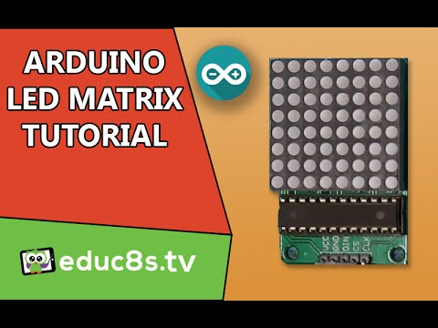 Arduino tutorial: LED Matrix red 8x8 64 Led driven by MAX7219 (or MAX7221) and Arduino Uno