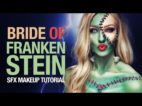 Bride of Frankenstein Halloween makeup tutorial