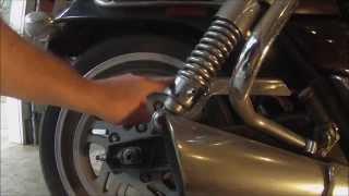 8. Cruiser Motorcycle Rear Suspension Adjustment - Triumph Thunderbird