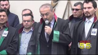 DİYARBAKIR'DA ÖLDÜRÜLEN BARO BAŞKANI TAHİR ELÇİ İÇİN SAMSUN BAROSU AYAKLANDI...