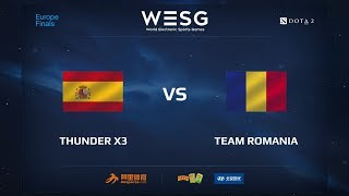 Thunder x3 vs Team Romania, WESG 2017 Dota 2 European Qualifier Finals