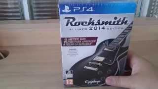 Desembalaje del juego Rocksmith para Playstation 4, donde vemos los componentes que posee este pack.