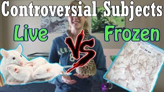 Con-Sub: Feeding Live vs Frozen Prey by Snake Discovery