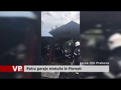 Patru garaje mistuite în Florești