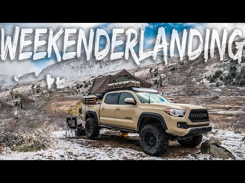 WEEKENDERLANDER EP 2 - Snow camping with the GF in the Tacoma