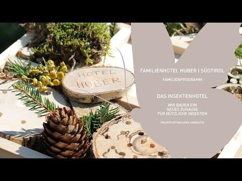 Naturprojekt im Familienhotel Huber – Wir bauen ein Insektenhotel