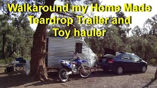 5. Walkaround My Teardrop Trailer Camper and Toy Hauler (under 600 pounds Weight)