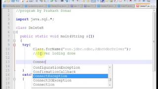 Delete specified record from MS Access table, using java databasemore tutorial visit http://javaprogram99.blogspot.in/