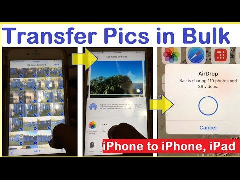 How to transfer multiple photos from iPhone to another iPhone, iPad