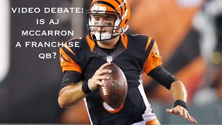 Sure he showed poised, passion and maybe even a little pompousness, but can AJ McCarron be a star in the NFL? John Sheeran and Dr. Hodgie debate.