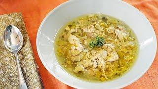 Soupe au poulet et au poireau