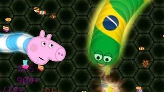 George Pig voltou com o jogo da cobrinha. Assista todos os vídeos da série!https://www.youtube.com/playlist?list=PLZReUvGNig6hEK7ZtSUoiaq9ckk0kHF5gGeorge Pig joga Slither.io - jogo da cobrinha - EP01George Pig joga Slither.io - jogo da cobrinha - EP02 - rumo ao ranking dos líderes!George Pig e o jogo da cobrinha - Ep03 - Cobrinhas comedoras de guloseimas. Slither WormateGeorge Pig e o jogo da cobrinha - Ep04 Especial de Natal Slither.io