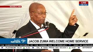 Jacob Zuma's Welcome Home prayer service