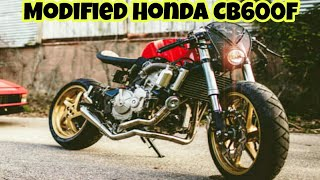 4. Modified Honda CB600F Inspired By Ferrari By One Up Moto Garage