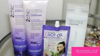 Hey ladies! In this video I'll show you how I use the 2chick Blackberry and Coconut Milk Collection by Giovanni...