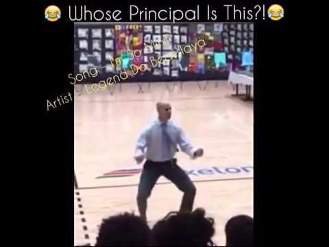 Principal Dances at School Rally & kills it to Beatslaya Song