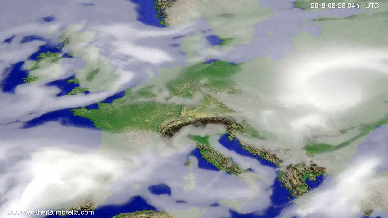Cloud forecast Europe 2018-02-24