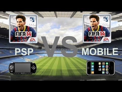 FIFA 14 For PSP VS FIFA 14 For Mobile|Graphics And Gameplay Comparison