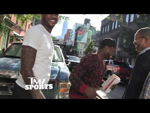 TMZ Video: 50 Cent – Bodyguarding for Carmelo