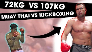 Download Lagu 72KG Muay Thai Legend vs. 107 KG Kickboxing Legend | RIP Nokweed Davy Mp3