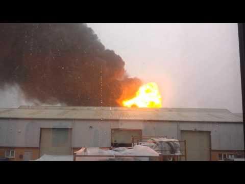 Viral Video UK: Fire explosion Astonfields Estate, Stafford