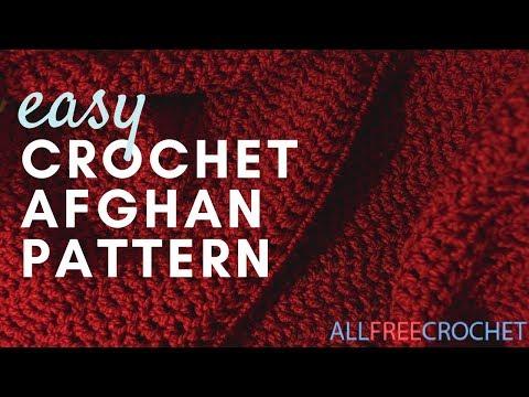 uncinetto - come lavorare una coperta afgana