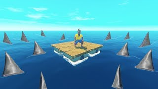 RAFT, But With 1000+ SHARKS Attacking Us!