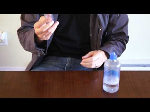 How to refill travel sized contact solution
