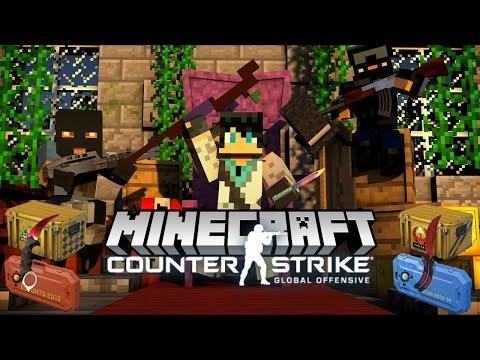Minecraft ОБЗОР МОДА! КОНТРА С КЕЙСАМИ В МАЙНКРАФТЕ (Minecraft CS:GO)