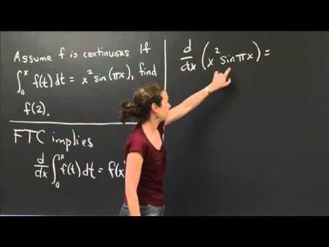 Applying the Second Fundamental Theorem | MIT 18.01SC Single Variable Calculus, Fall 2010