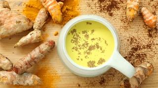 Leche dorada (leche nutritiva de cúrcuma)